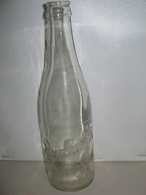 REINHART'S BEVERAGES GUELPH CLEAR 12 oz Soda Bottle GOOD CONDITION FOR AGE