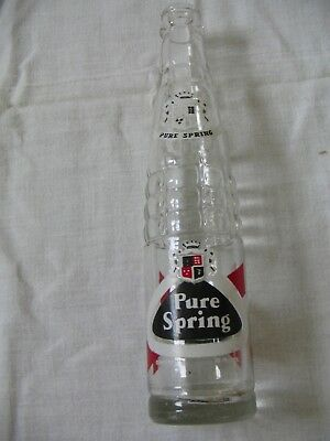 PURE SRING I0 oz Soda Bottle VERY NICE CONDITION