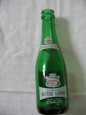 CANADA DRY BITTER LEMON 6 oz Soda Bottle VINTAGE VERY NICE CONDITION