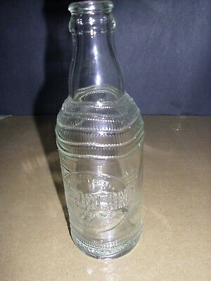 WOODLOND  WOODSTOCK CLEAR I0 oz Soda Bottle VINTAGE VERY NICE CONDITION