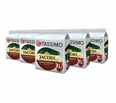 TASSIMO Jacobs Caffe Crema Classico XL Coffee Pods T-Discs 5 Pack, 80 Drinks