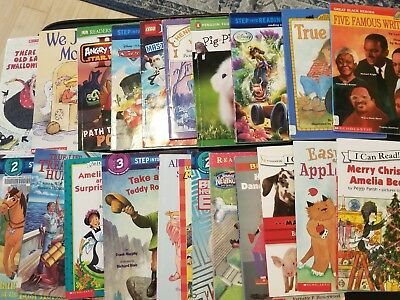 Lot of 22 Level 2 & 3 Ready to/I Can Read Step into Reading Learn Read Books MIX