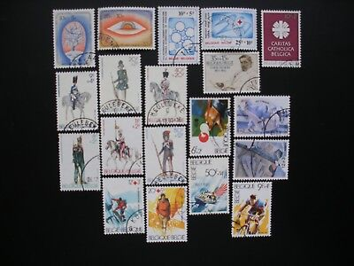 Belgium-1981/90 Semi Postal, Collection of 73 Stamps, 19 Sets Used Not Hinged