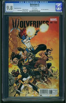 Wolverines #1 (2015) CGC Graded 9.8 - Howard Variant Cover ~ 1:20 Ratio