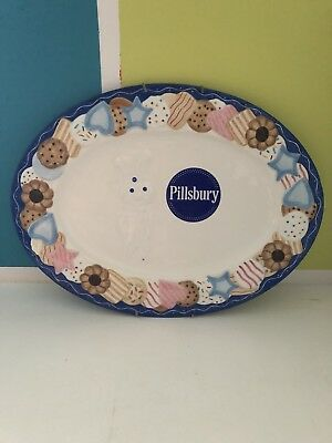 Pillsbury Doughboy COOKIE PLATTER / PLATE  TRAY 2002 Danbury Mint PERFECT