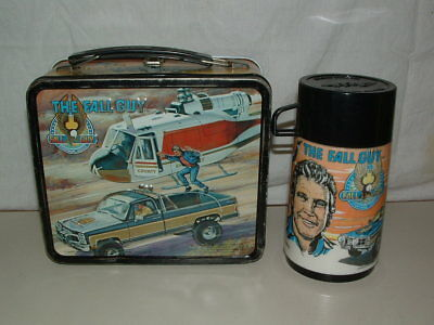 1981 Embossed Tin-Litho Metal Aladdin The Fall Guy Tv Show Lunchbox,thermos
