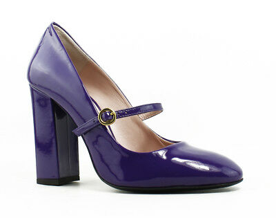New Moschino Womens Claudette Purple Pumps Size 8.5
