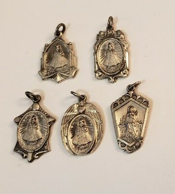 Vintage HMH Sterling Silver Infant of Prague Catholic Medals Religious Lot of 5
