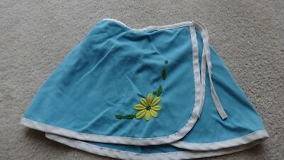 Vintage Danskin Tennis Skirt Turquoise Child Size 10 Saks Fifth Ave