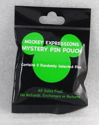 Disney Trading Pins MICKEY EXPRESSIONS MYSTERY POUCH Sealed Collectible Set of 2