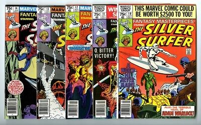 Fantasy Masterpieces Silver Surfer #10,11,12,13,14 Avg NM- New Marvel Collection
