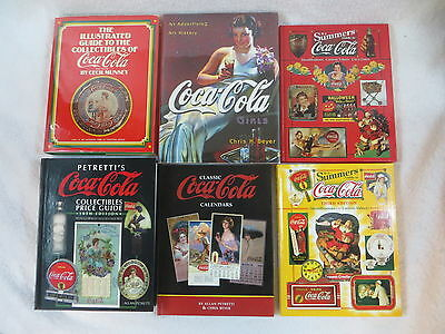 Lot of 10 COCA-COLA COLLECTIBLES ADVERTISING Books plus 4 Ads from Natl Geo