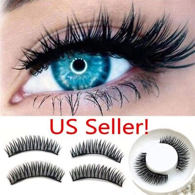 da5427e83da 5Pairs/20Pcs Full Eyes 3D Double Magnetic False Eyelashes Reusable Extension  USA
