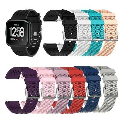 S/L Replacement Wrist Bands Breathable Soft Silicone Strap for Fitbit Versa Band