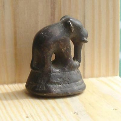 Antique Bronze Opium Weight, Elephant, 52.9 Grams