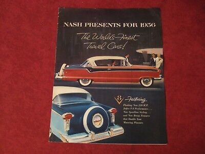 1956 Nash Showroom Dealership Brochure Catalog Old Original Vintage Booklet