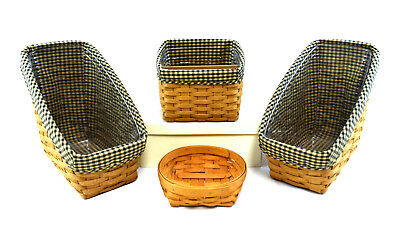 (Lot of 4) Longaberger Assorted Decorative Baskets Collection USA (0900)