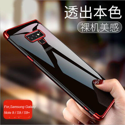 For Samsung Galaxy S9 Note 9 360° Soft TPU Clear Hybrid plating Phone Case Cover