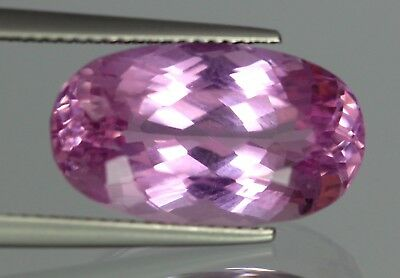 Flawless 15.80 Cts Natural Oval Cut Afghanistan Pink Patroke Kunzite No Reserve