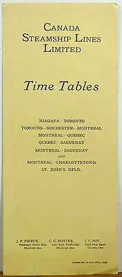 1923 Canada Steamship Lines Time Time tables sailing schedule travel brochure b