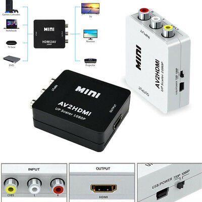 Mini AV to HDMI Converter Adapter Mini AV2HDMI Video Converter 1080P HDTV New