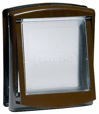 Petsafe Staywell Original 2 Way Door Brown Finish Cat, Dog Small Transparent Lid