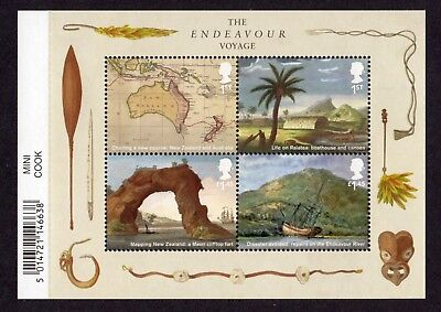 2018 CAPTAIN COOK Mint Stamp MINI SHEET With Barcode