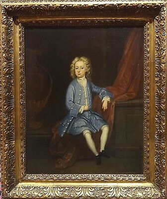 Fine 17th Century English Old Master Portrait Naval Boy Antique Oil Painting