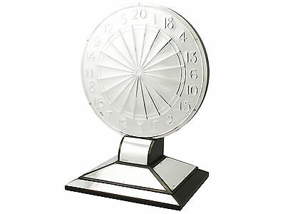 Sterling Silver Dartboard Presentation Trophy Art Deco Antique George V