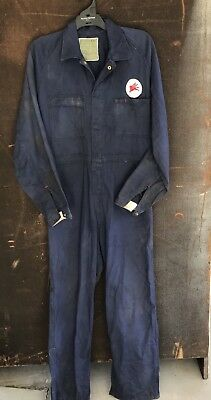 True Vintage Circa 1940s Mens Navy Blue Overalls Museum Mens Shed Garage Mobil