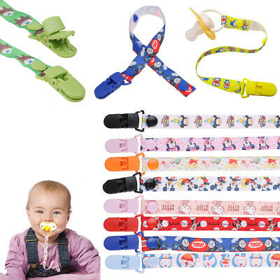 Kids Baby Cartoon Dummy Soother Nipple Strap Pacifier Clip Chain Leash Holder