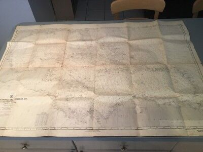 Vtg Nautical Chart 1961 - H.O.1290 GULF OF MEXICO AND CARIBBEAN SEA / DEPT NAVY