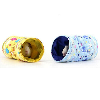 Guinea Pig Tunnel Tubes Toy Bird Cage Bed Hedgehog Chinchilla House Cave BS