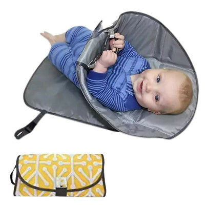 3 in1 Baby Changing Mat Hat Case Clean Hands Pad Diaper Clutch Station Holder UK