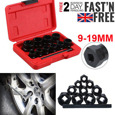 11Pc Grip N Twist Sockets Locking Wheel Nut Remover Damaged Rounded Bolts Uk