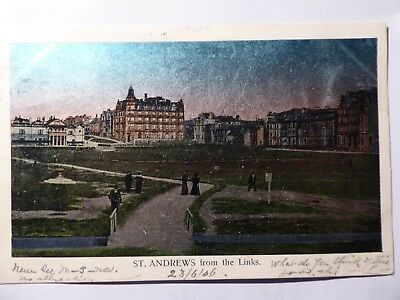 Fife.  St Andrews. Golf Links.  Rare Pearlized Finish.  1906.   Charles Voisey.