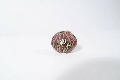 Antike Glasperle Gesicht O1 Tabular Murano Antique Face bead African trade bead
