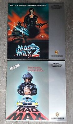 VF PAL LASERDISC 🇫🇷 LOT RARE MADMAX 1er edition + Le 2 🤠IMPECCABLE Mel GIBSON