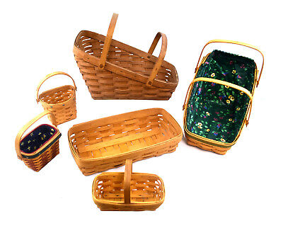 (Lot of 6) Longaberger Assorted Decorative Baskets Collection USA (0898)