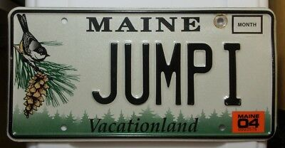 2004 Expired Maine Vanity License Plate  # JUMP I