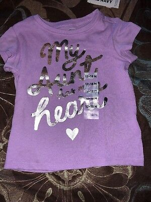 NWT Old Navy Brand Girls Top Sz 12-18mo