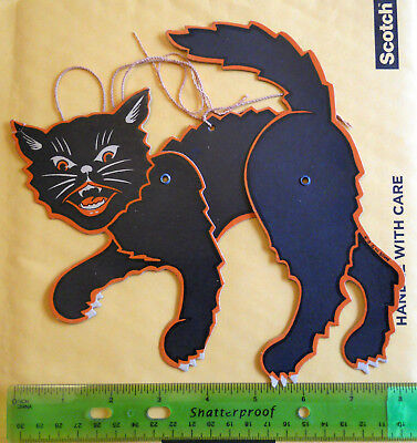 Vintage Halloween Black Cat Decoration With Adjustable Parts
