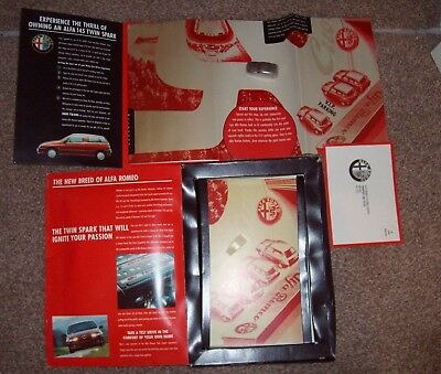 Alfa Romeo Twin Spark Test Drive Pack With Miniature Metal Car - Great Item!