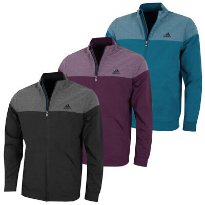 adidas Golf Mens Hybrid Heather Stretch Relaxed Fit Full Zip Jacket 39% OFF RRP