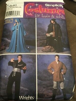 Simplicity Sewing Pattern 5840 Misses, Men and Teen Costumes, A (XS-S-M-LXL)