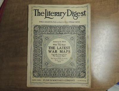 The Literary Digest January 9, 1915 War Map Pictures