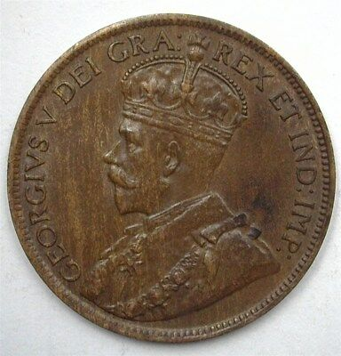 Canada 1919 Large Cent  Choice Uncirculated Br