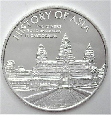 History Of Asia Series 2005 Dollar - Khmers Build Angkor Wat- Perfect Proof Dcam