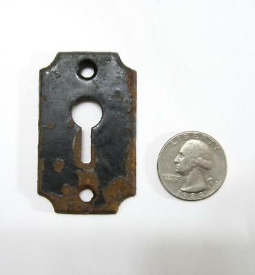 Large Antique Skeleton Key Lock Plate Escutcheon Hole Cover Cast Iron Rust VTG