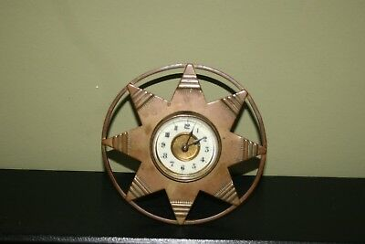 Antique/Vintage Star Clock Possible Trench Art